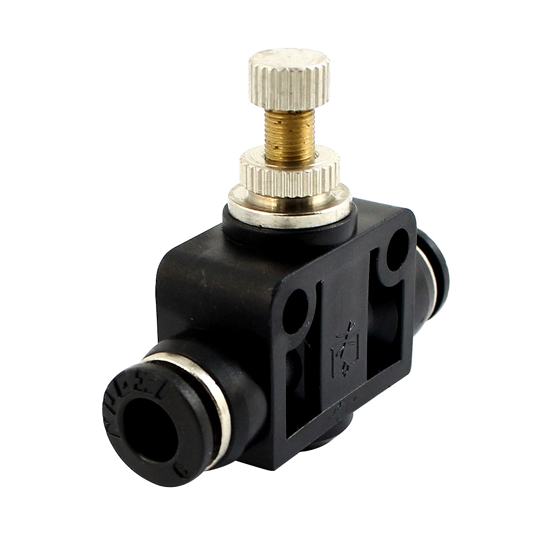 6mm to 6mm Push in Tube 2 Way T Shaped Air Pneumatic Quick Release Fitting Connector Speed Controller