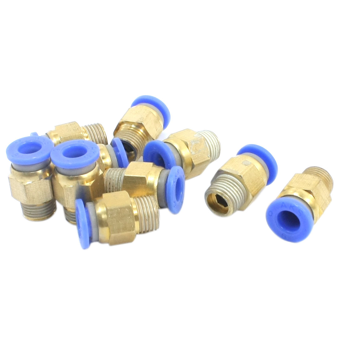 10 PCS 1/8 PT Male Thread 6mm Push in Tube Dia Pneumatic Air Quick Release Fitting Coupler Joint Connector Adapter