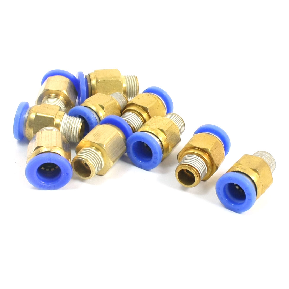 10 PCS 1/8PT Male Thread 8mm Push in Tube Dia Pneumatic Air Quick Release Fitting Coupler Joint Connector Adapter