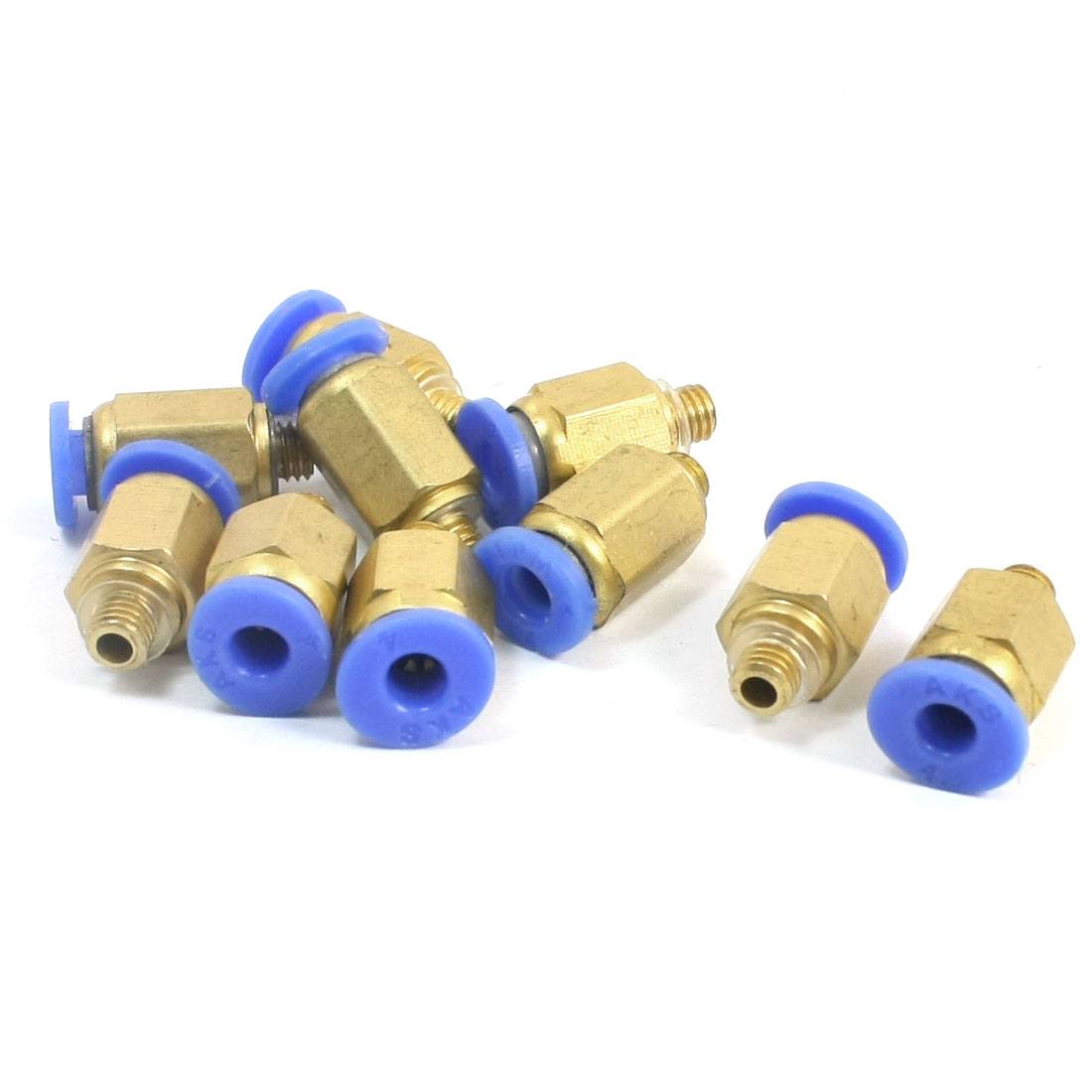 10pcs M5 x 4mm Air Pneumatic Pipe Tube Straight Quick Coupler Fitting Connector
