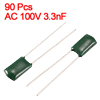 AC 100V 3.3nF 3300pF Through Tole Polyester Film Capacitors 90pcs