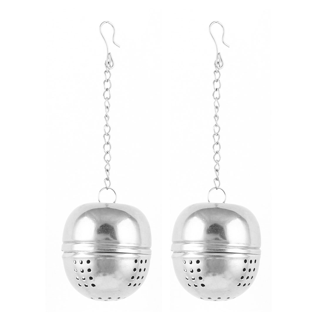 Kitchen 4cm Dia Ball Shaped Stainess Steel Tea Filter Infuser 2 Pcs