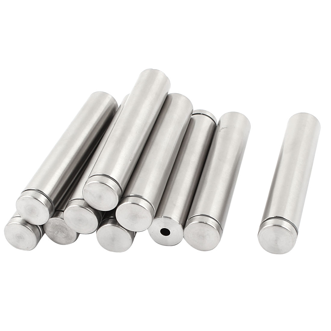 "10 Pcs 0.7"" Dia 3.9"" Length Round Stainless Steel Standoff for Glass Hardware"