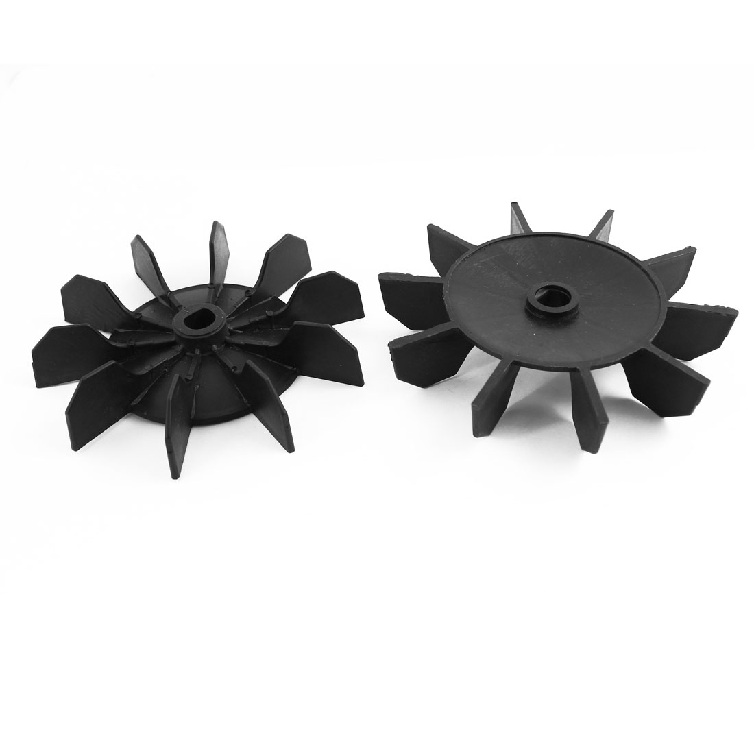 Spare Part Black Plastic 13mm Inner Dia 10 Impeller Motor Fan Vane 2 Pcs