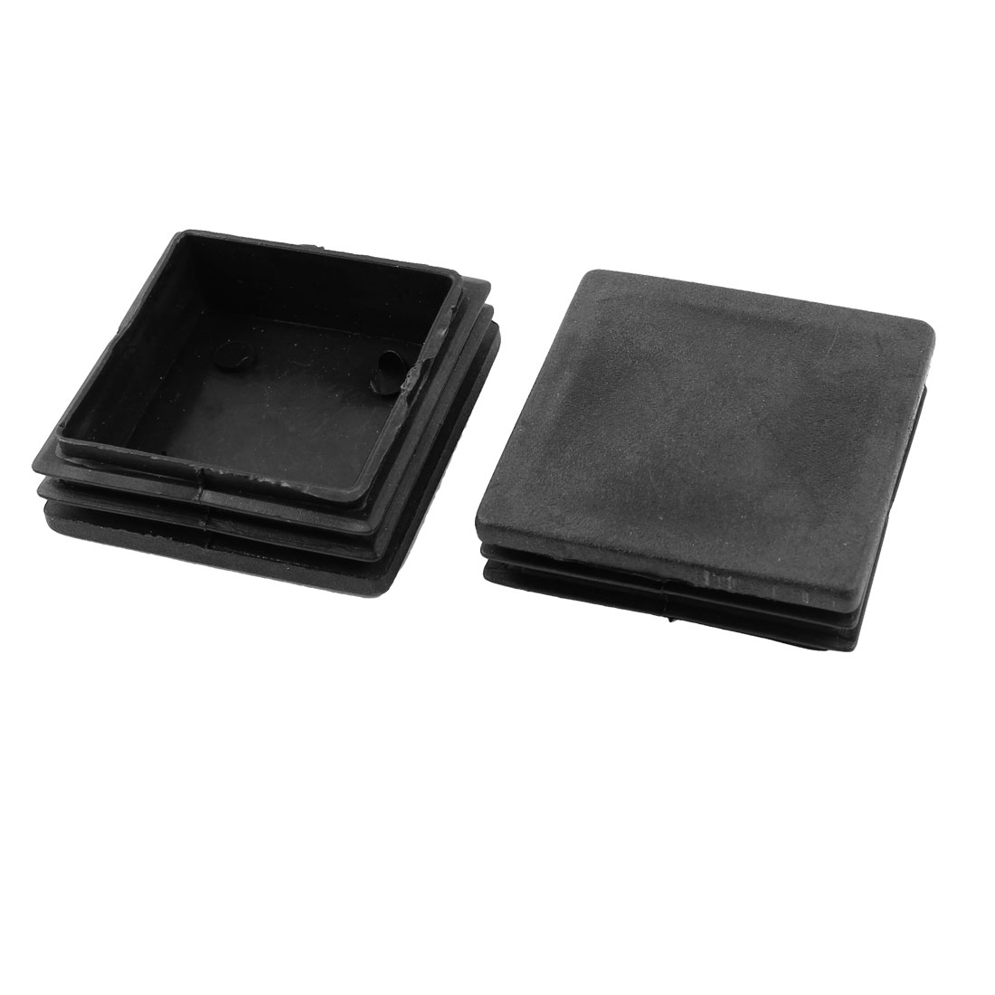 2 Pcs Black Plastic Square Tube Inserts End Blanking Cap 50mm x 50mm