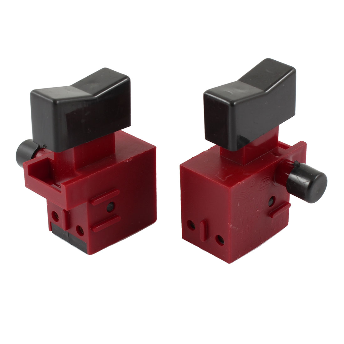 2 Pcs AC 250V 4A NO Momentary Select Locking Electric Tool Trigger Switch