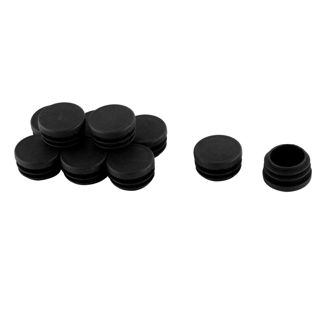 30mm Diameter Round Plastic Blanking End Cap Tubing Tube Insert 10 Pcs