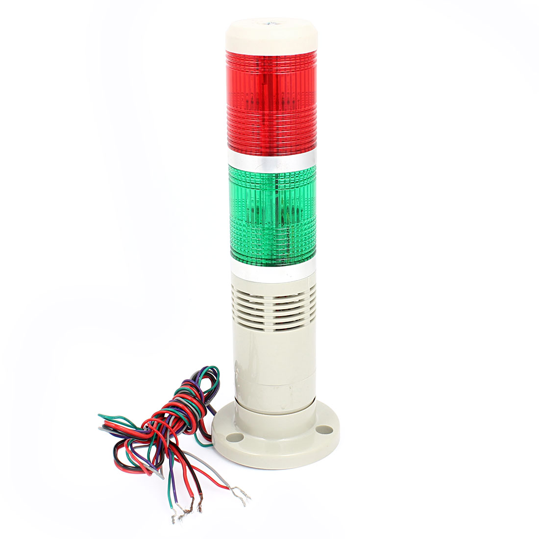 Red Green Flash Industrial Signal Tower Indicator Light Bulb Buzzer 90dB AC 220V