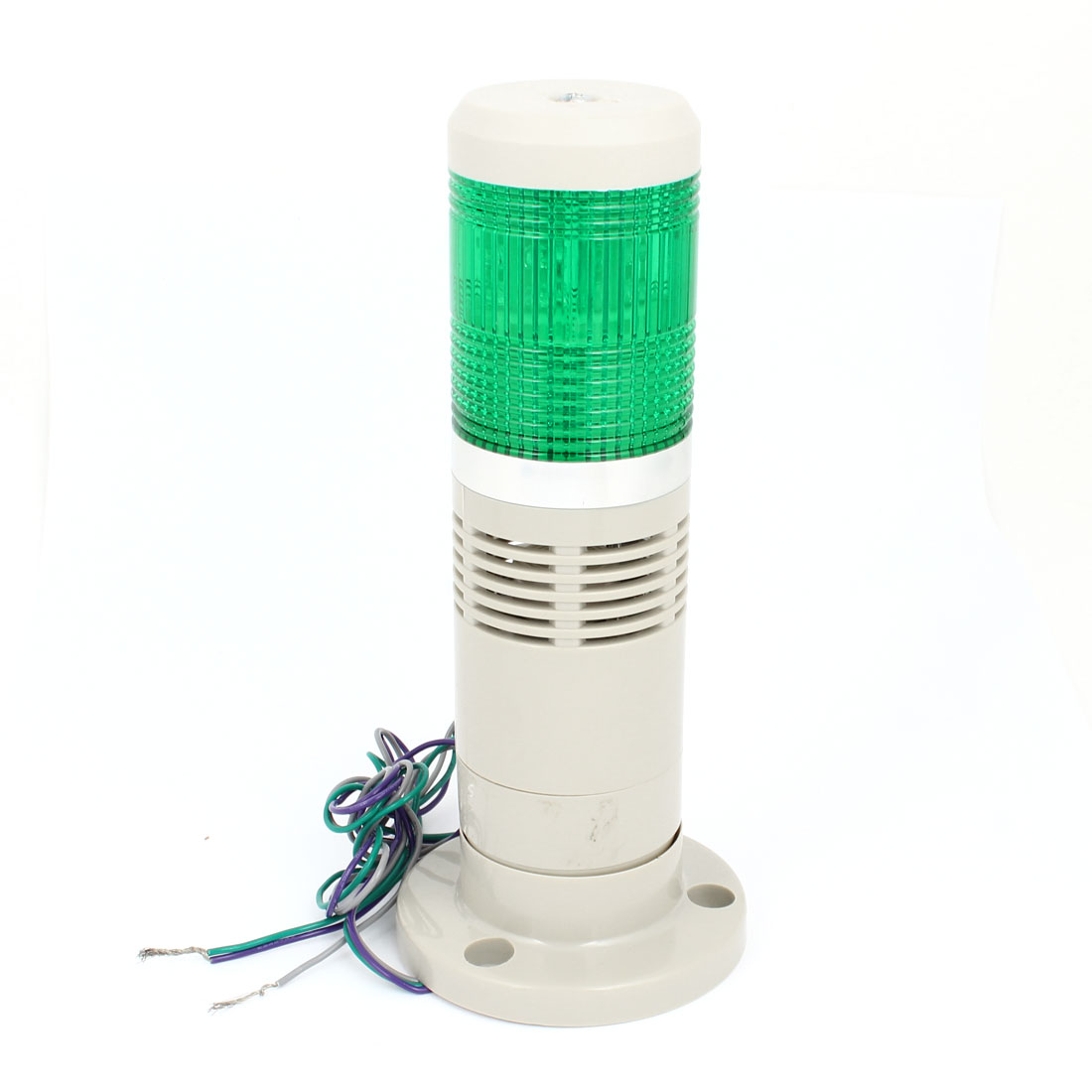 Green LED Industrial Signal Tower Safety Stack Warning Light 90dB AC 220V