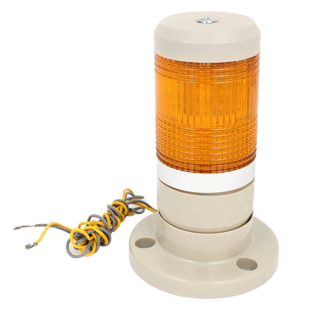 Yellow LED Industrial Signal Tower Stack Indicator Light Lamp AC 220V