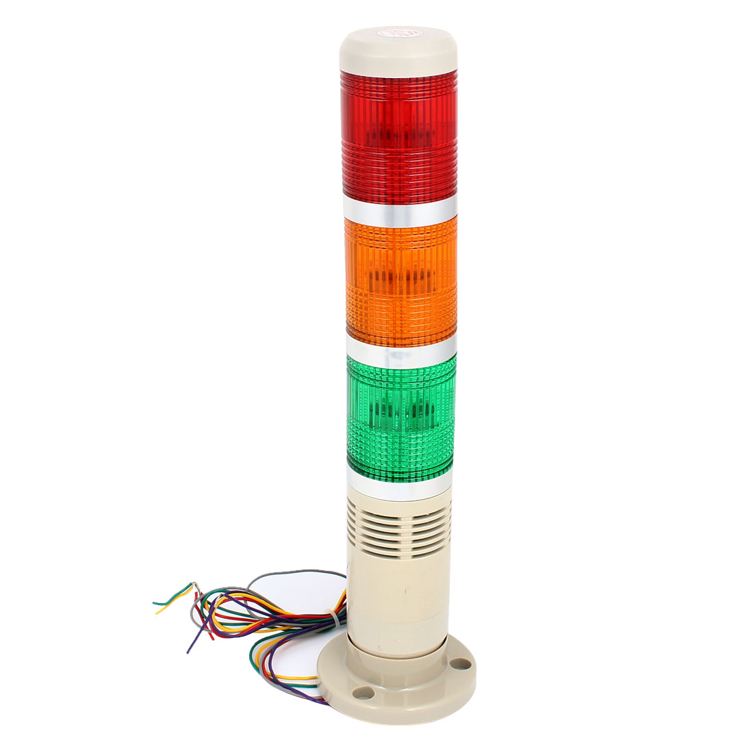 AC 220V Red Green Yellow Industry Signal Tower Warning Buzzer Light Bulb 90dB