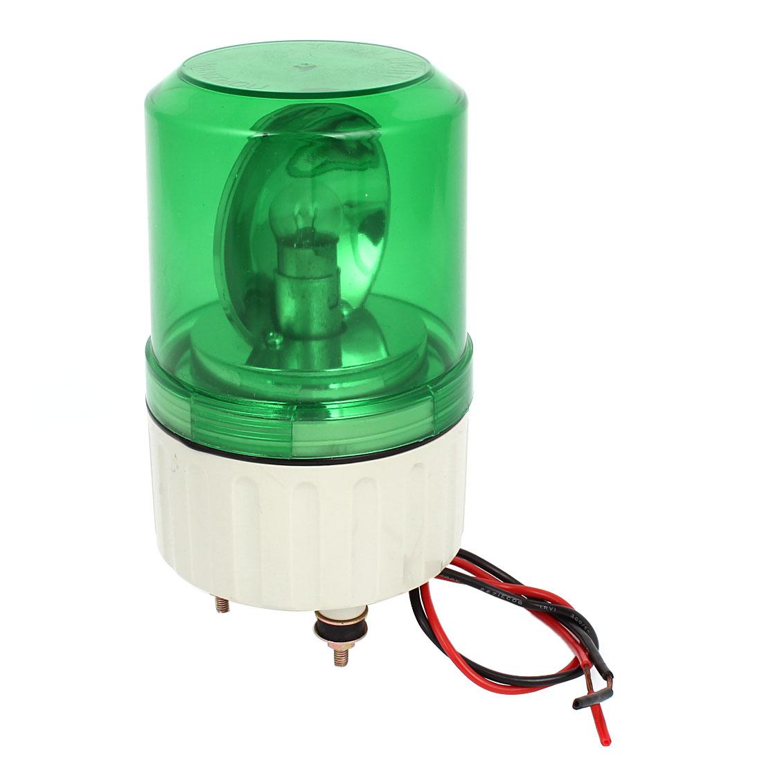 DC 24V Green Rotating Industrial Signal Warning Light Lamp Bulb
