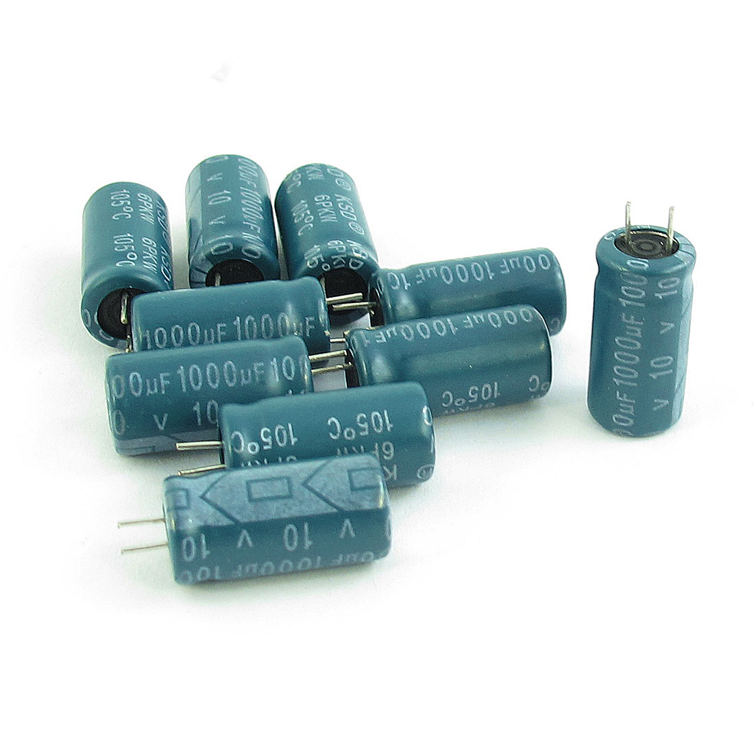 10pcs Electronic Component 1000uF 10V 105C Electrolytic Capacitor 8x16mm