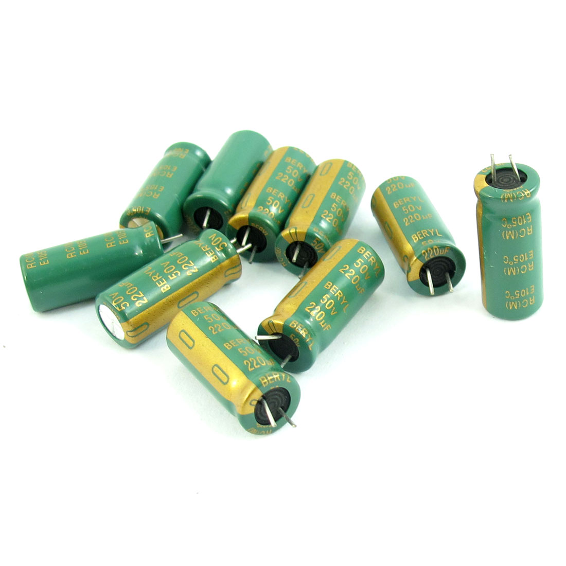 10pcs Electronic Component 220uF 50V 105C Electrolytic Capacitor 8x19mm