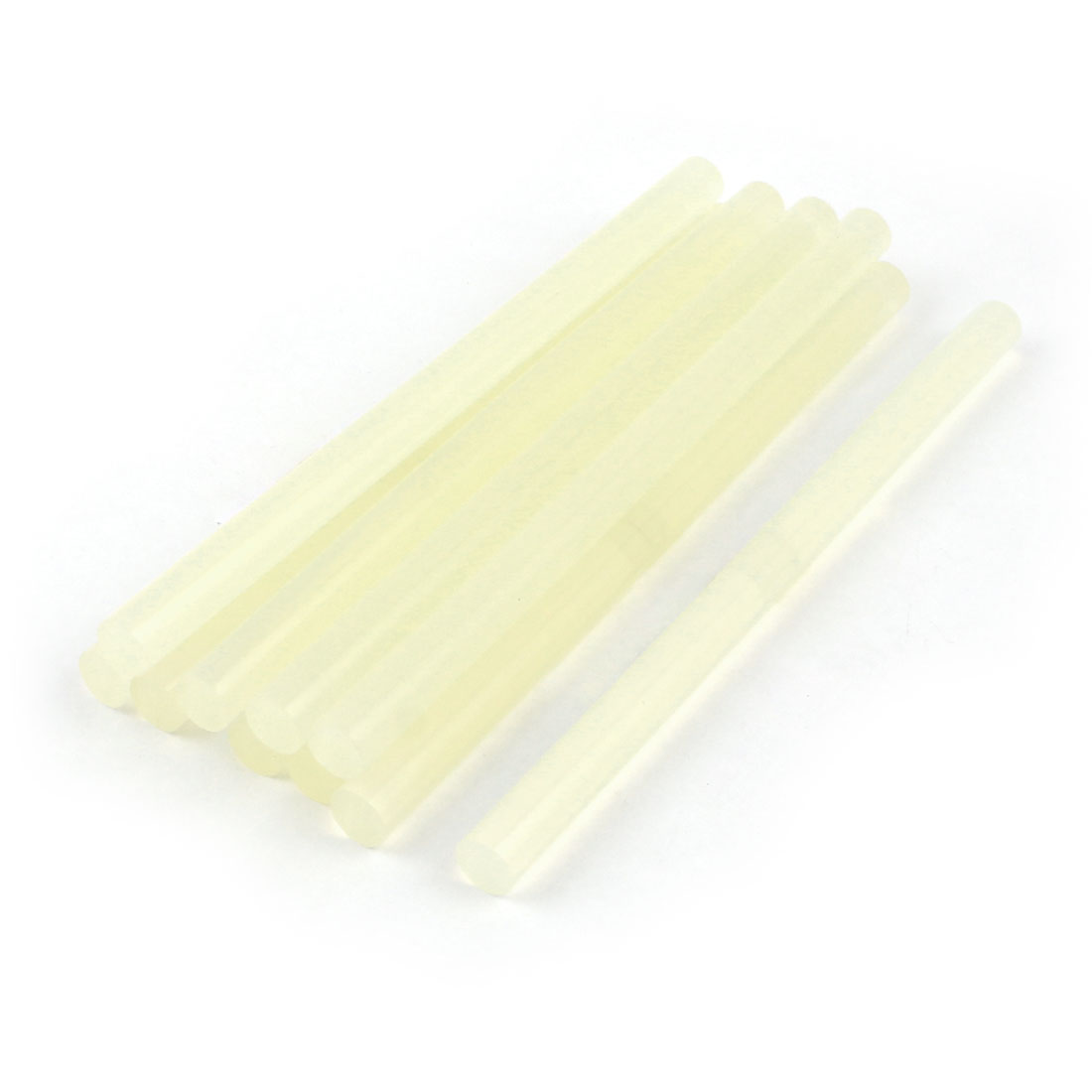 10 Pieces Clear White Hot Melt EVA Glue Adhesive Stick 11mm x180mm