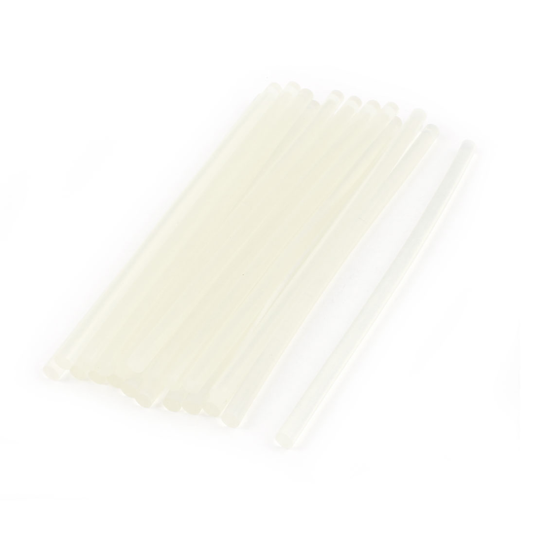 20 Pcs Clear White Hot Melt EVA Glue Adhesive Sticks 7x190mm