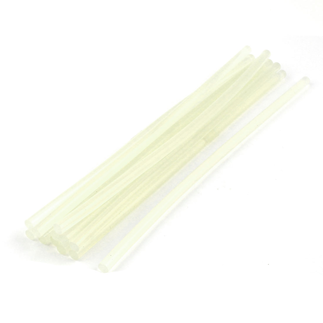 12 Pcs 7mm Diameter Soldering Iron Hot Melt Glue Stick 190mm Length Clear White