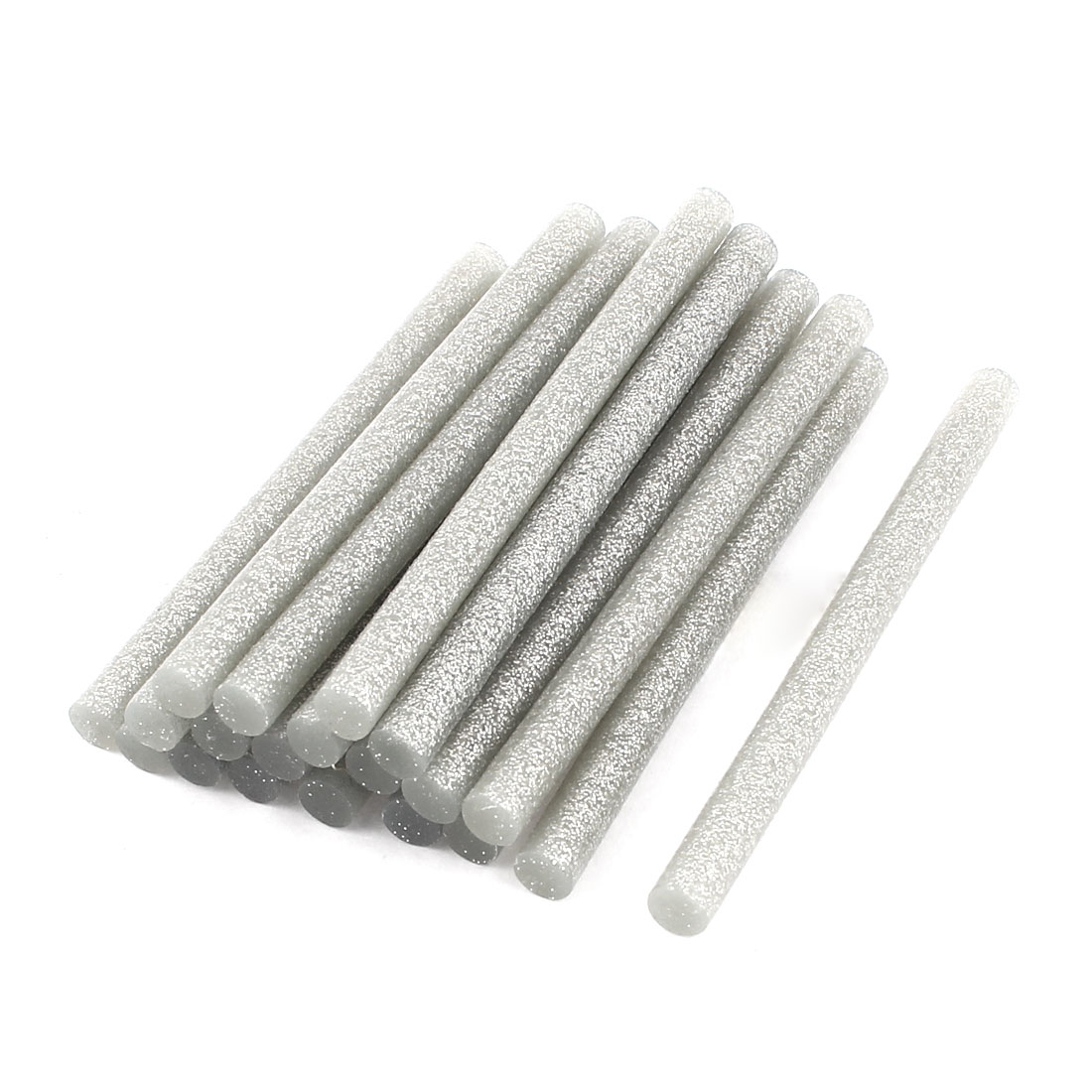 20 Pcs Silver Tone 7mm Diameter 100mm Length Crafting Models Hot Melt Glue Stick