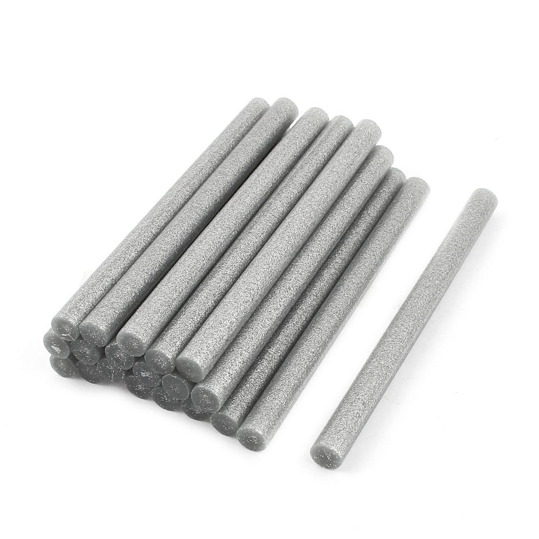 20 Pcs 11mm Diameter 150mm Length Crafting Model Silver Tone Hot Melt Glue Stick