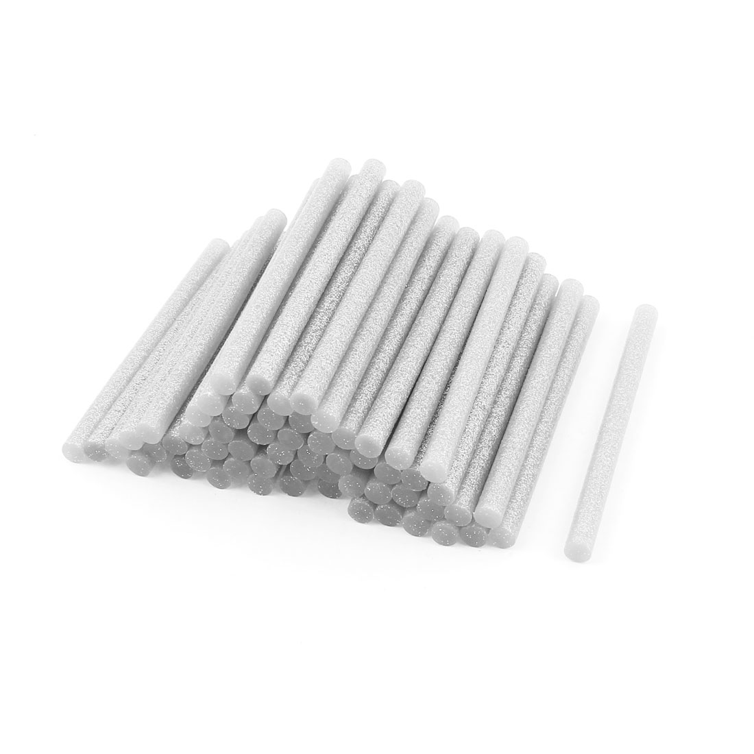 50 Pcs Silver Tone 7mm Diameter 100mm Length Crafting Models Hot Melt Glue Stick