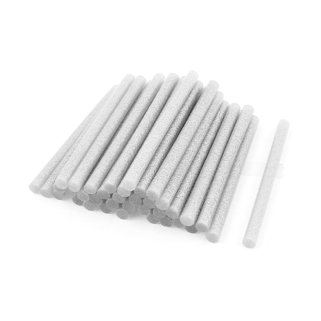 35 Pcs Silver Tone 7mm Diameter 100mm Length Crafting Models Hot Melt Glue Stick