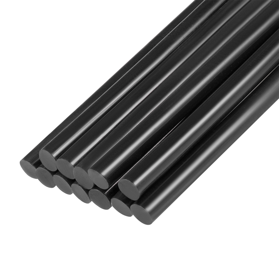 12 Pcs 11mm Diameter 270mm Long Crafting Model Black Plastic Hot Melt Glue Stick