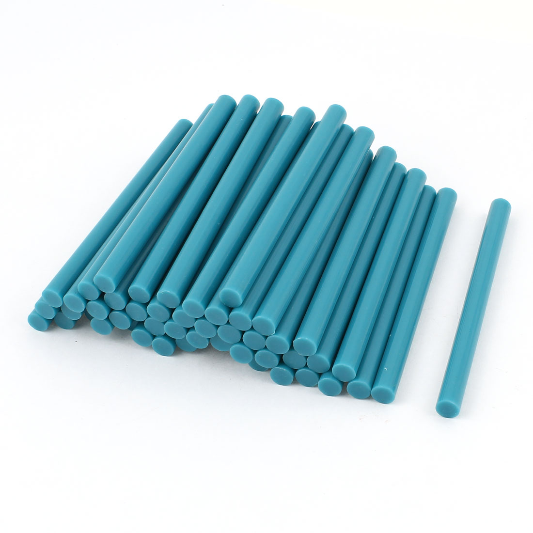 50 Pcs Teal Blue Hot Melt Glue Gun Adhesive Sticks 7mm x 100mm
