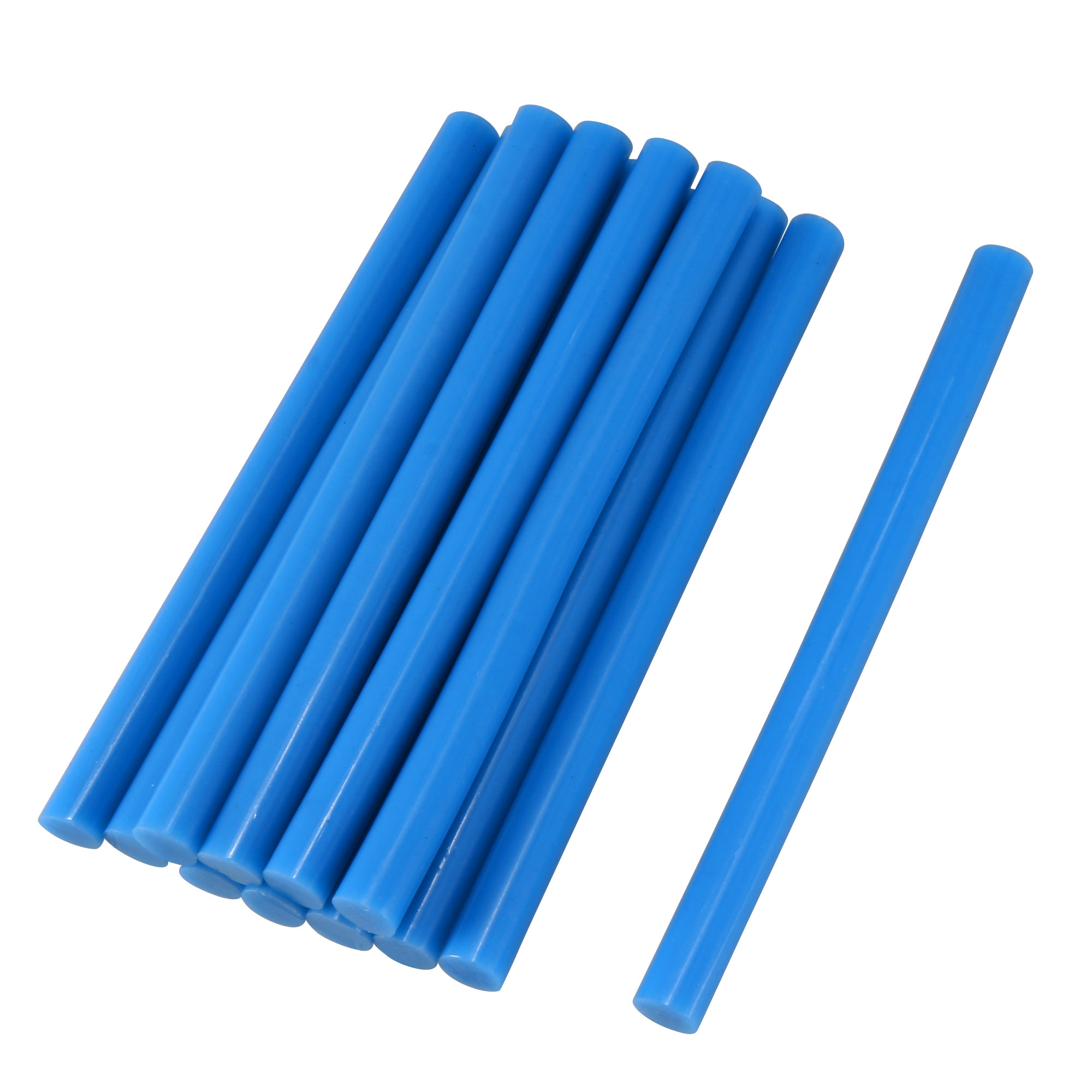 12 Pcs Blue Hot Melt Glue Gun Adhesive Sticks 7mm x 100mm