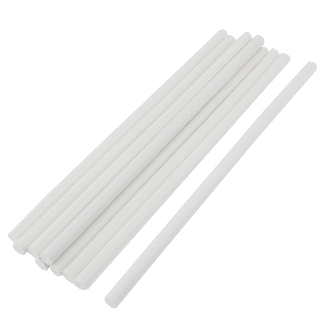 10 Pcs Oyster White 11mmx310mm Soldering Iron Hot Melt Glue Stick Replacement