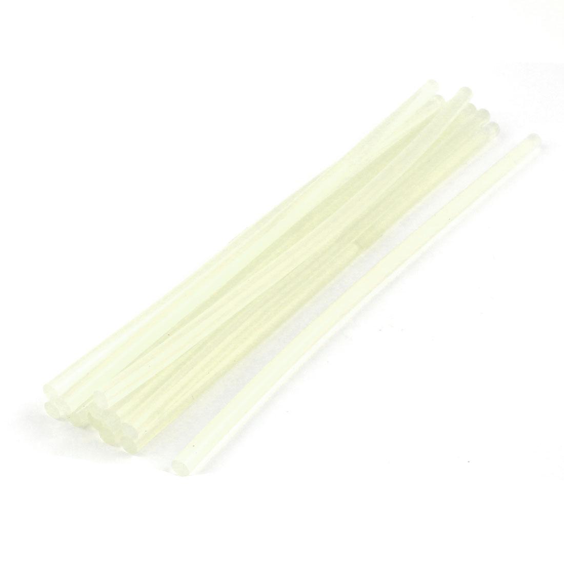 20 Pcs 7mm Dia Clear White EVA Hot Melt Glue Sticks for Fabric Attachment