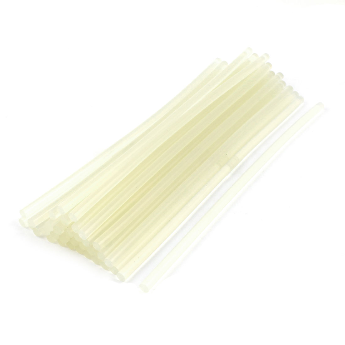 35 Pcs Clear White 7mmx255mm Soldering Iron Hot Melt Glue Stick Replacement