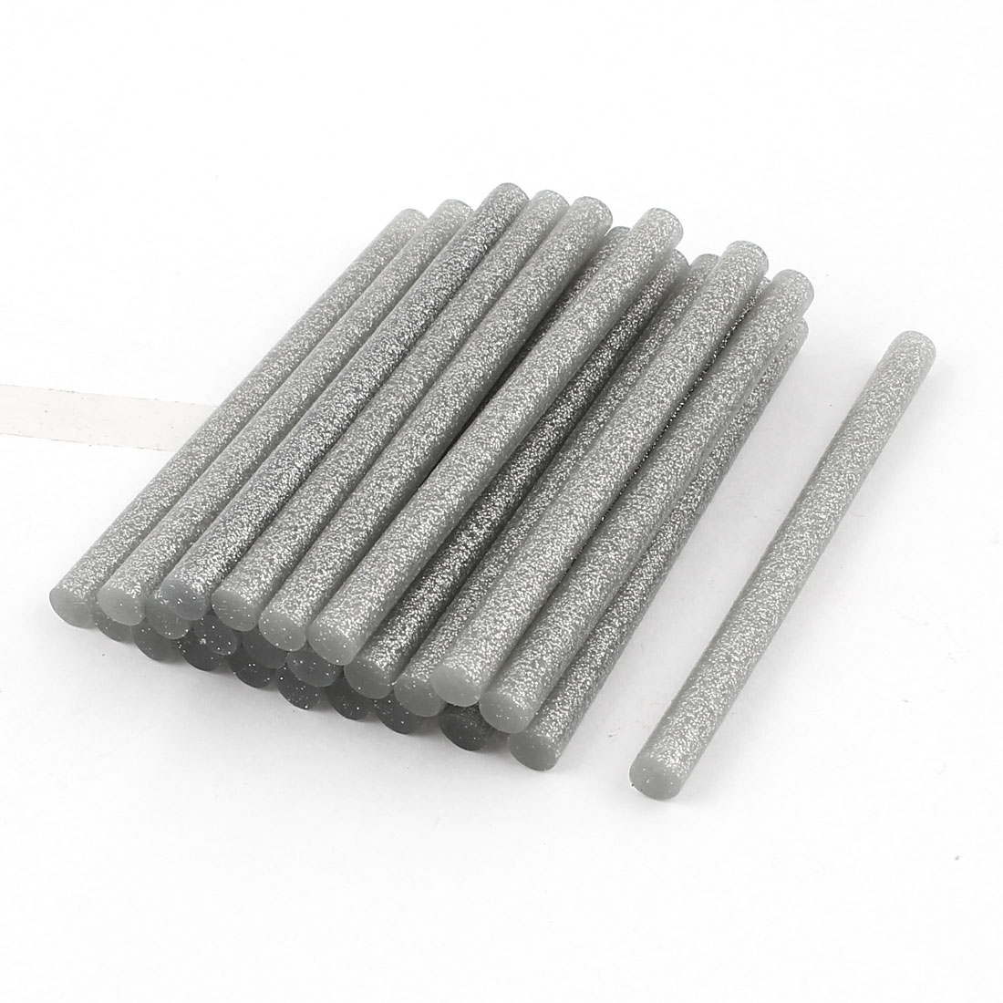 24 Pcs Silver Tone 7mm Diameter 100mm Length Crafting Models Hot Melt Glue Stick