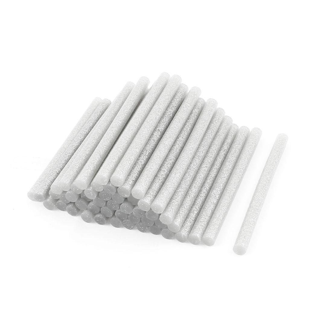 50 Pcs 7mm Diameter 100mm Length Crafting Model Silver Tone Hot Melt Glue Sticks