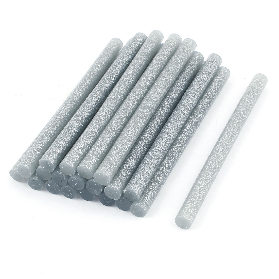 20 Pcs Silver Tone Glitter Hot Melt Glue Gun Adhesive Sticks 7x100mm