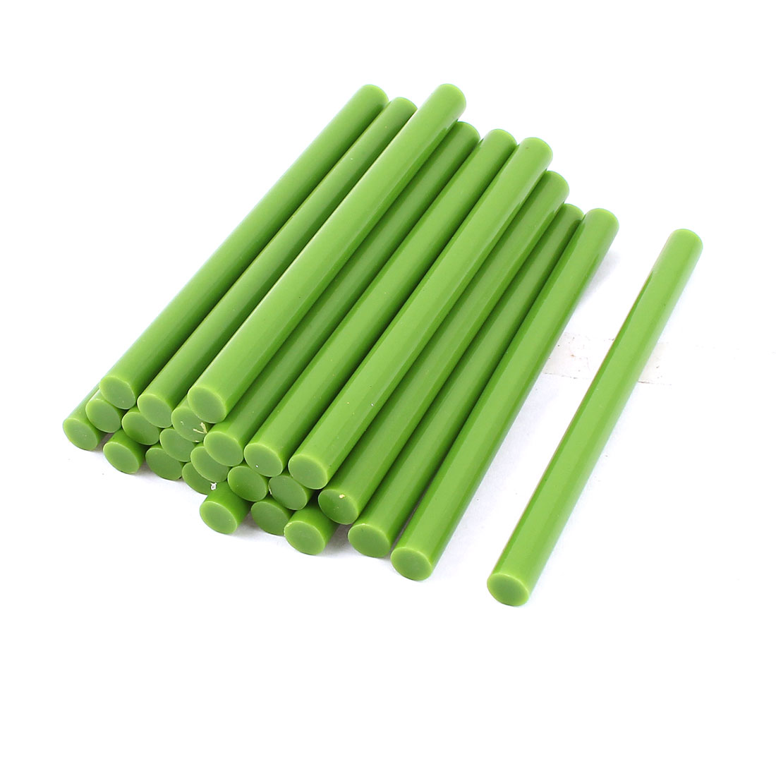 24 Pcs 7mm Diameter 100mm Long Crafting Models Green Plastic Hot Melt Glue Stick