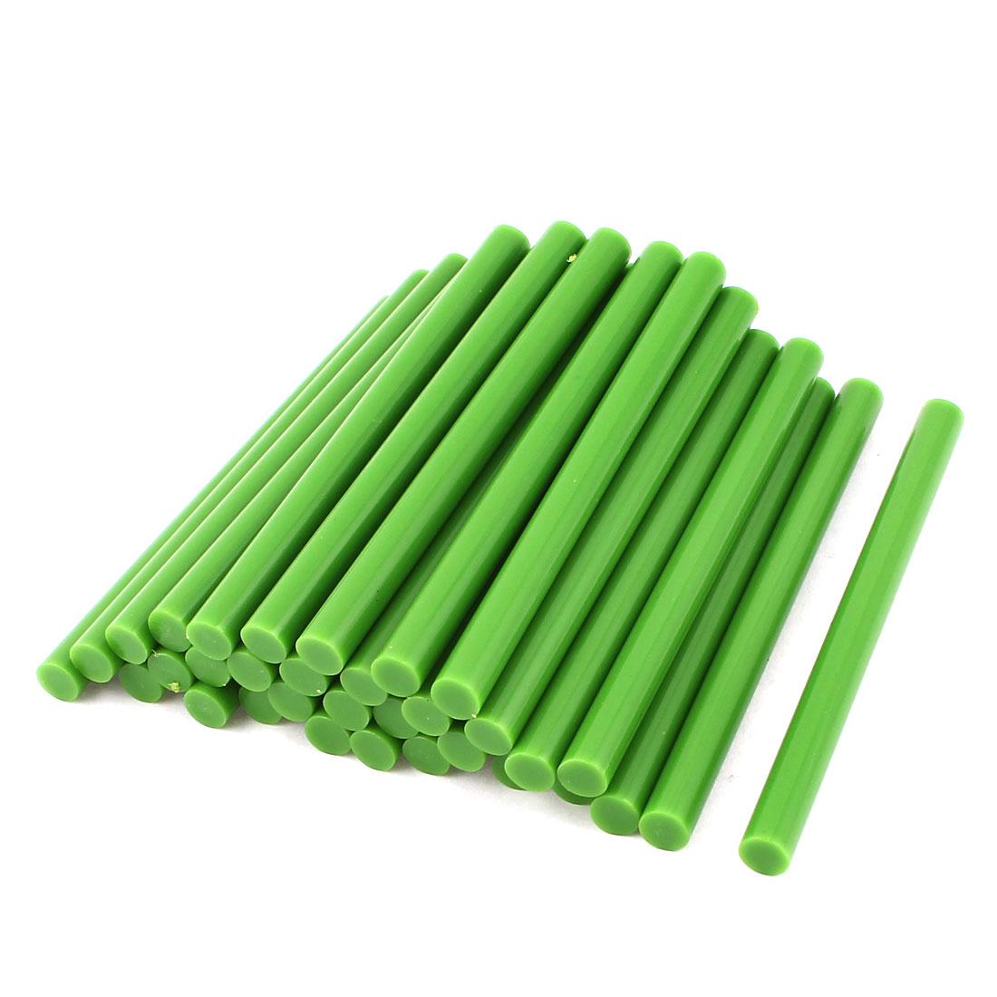 35 Pcs Green Hot Melt Glue Gun Adhesive Sticks 7mm x 100mm