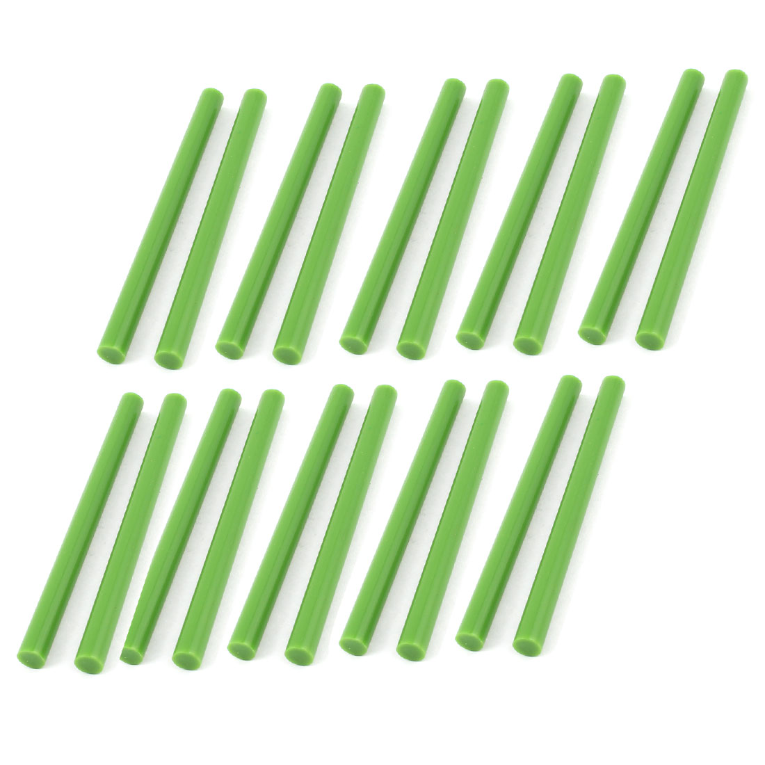 20 Pcs Green 7mm Dia Hot Melt Glue Adhesive Sticks for Electric Tool Heating Gun