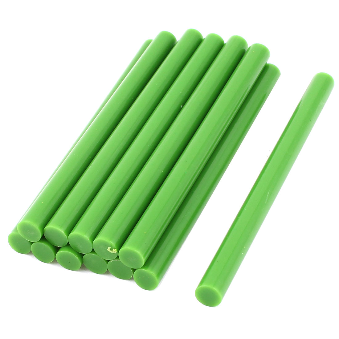 12 Pcs Green Hot Melt Glue Gun Adhesive Sticks 7mm x 100mm