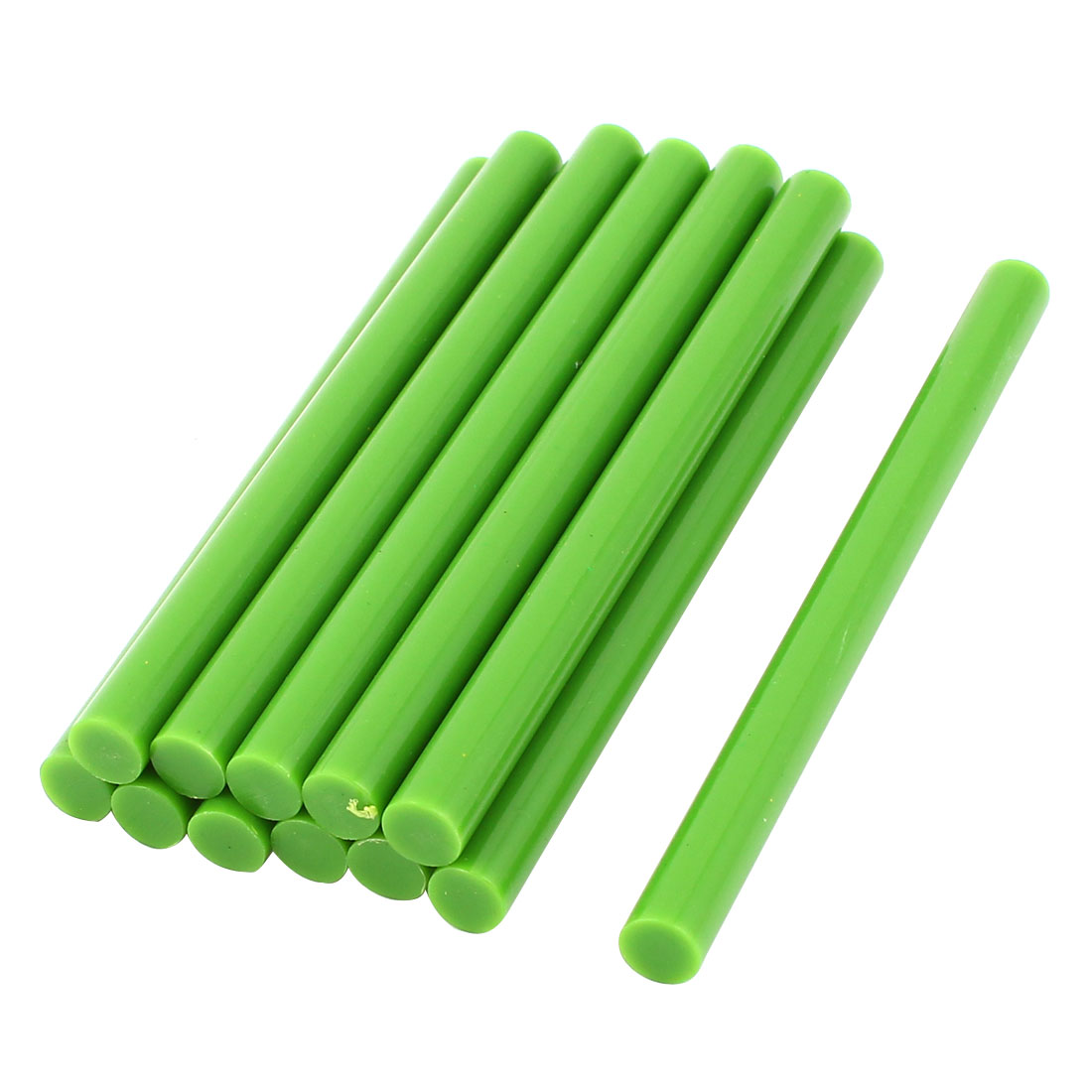 10 Pcs Green Hot Melt Glue Gun Adhesive Sticks 7mm x 100mm