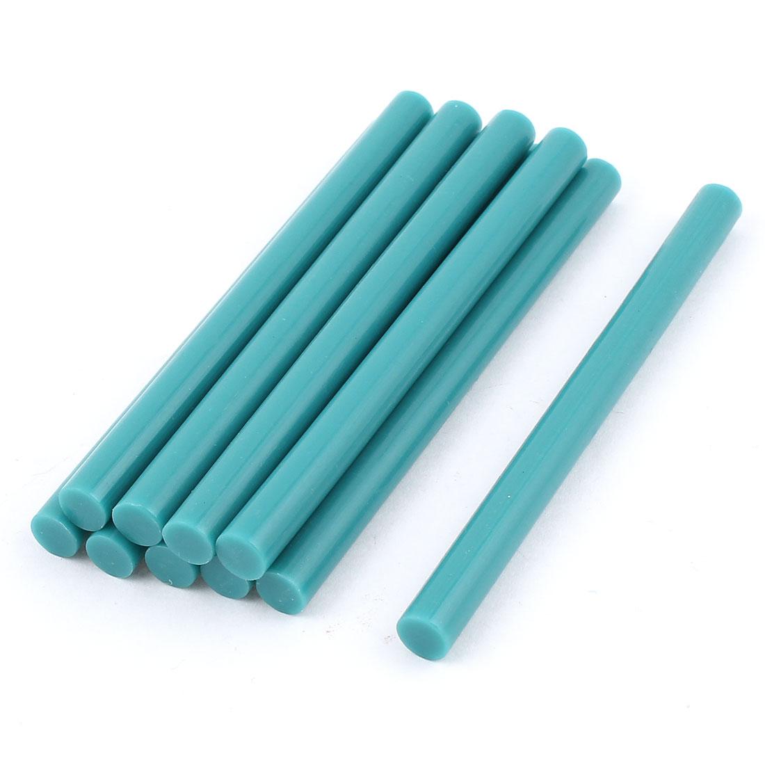 10 Pcs Teal Blue Hot Melt Glue Gun Adhesive Sticks 7mm x 100mm