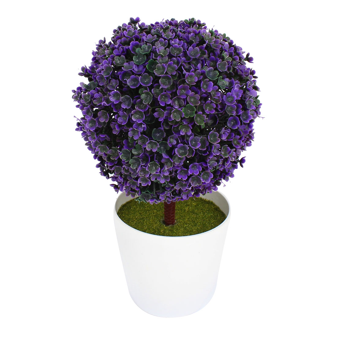 "9.8"" Length Artificial Plant Bonsai Home Ornament Floral Tree Plant Dark Purple"