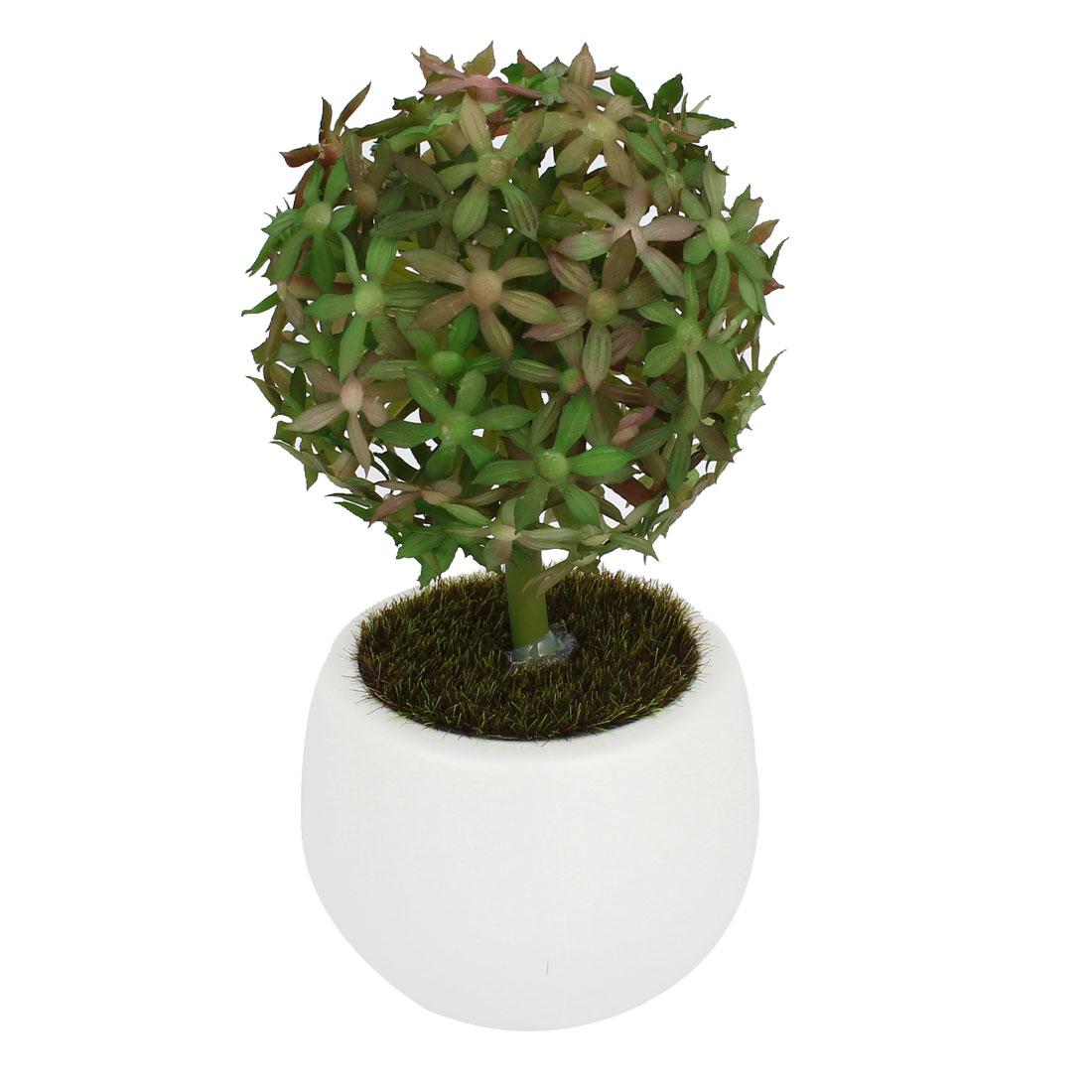 "Home Office Decoration Artificial Bonsai Plastic Floral Plant Tree 5.9"" Length"
