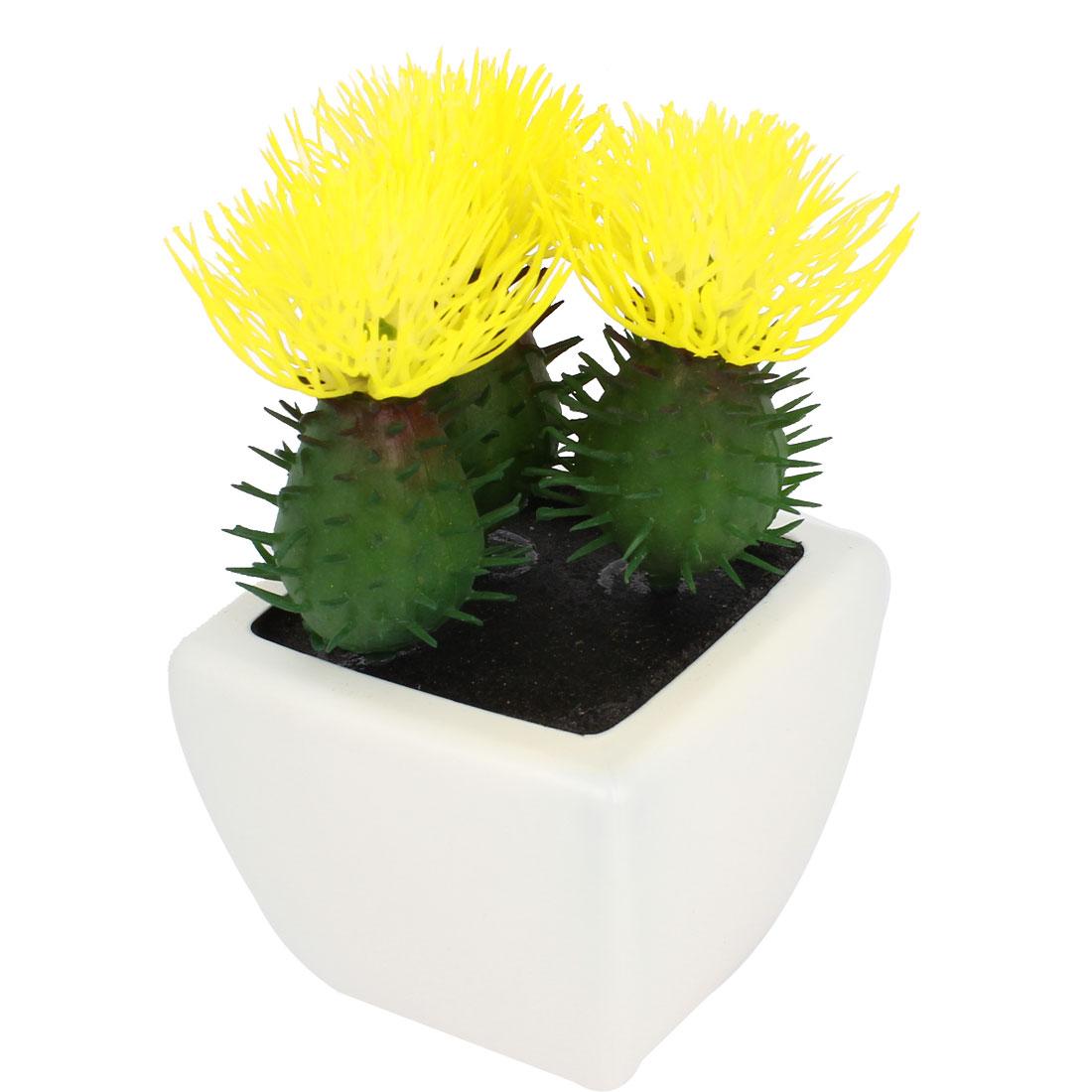 Desktop Decoration Artificial Bonsai Ceramic Potted Plastic Flower Plant