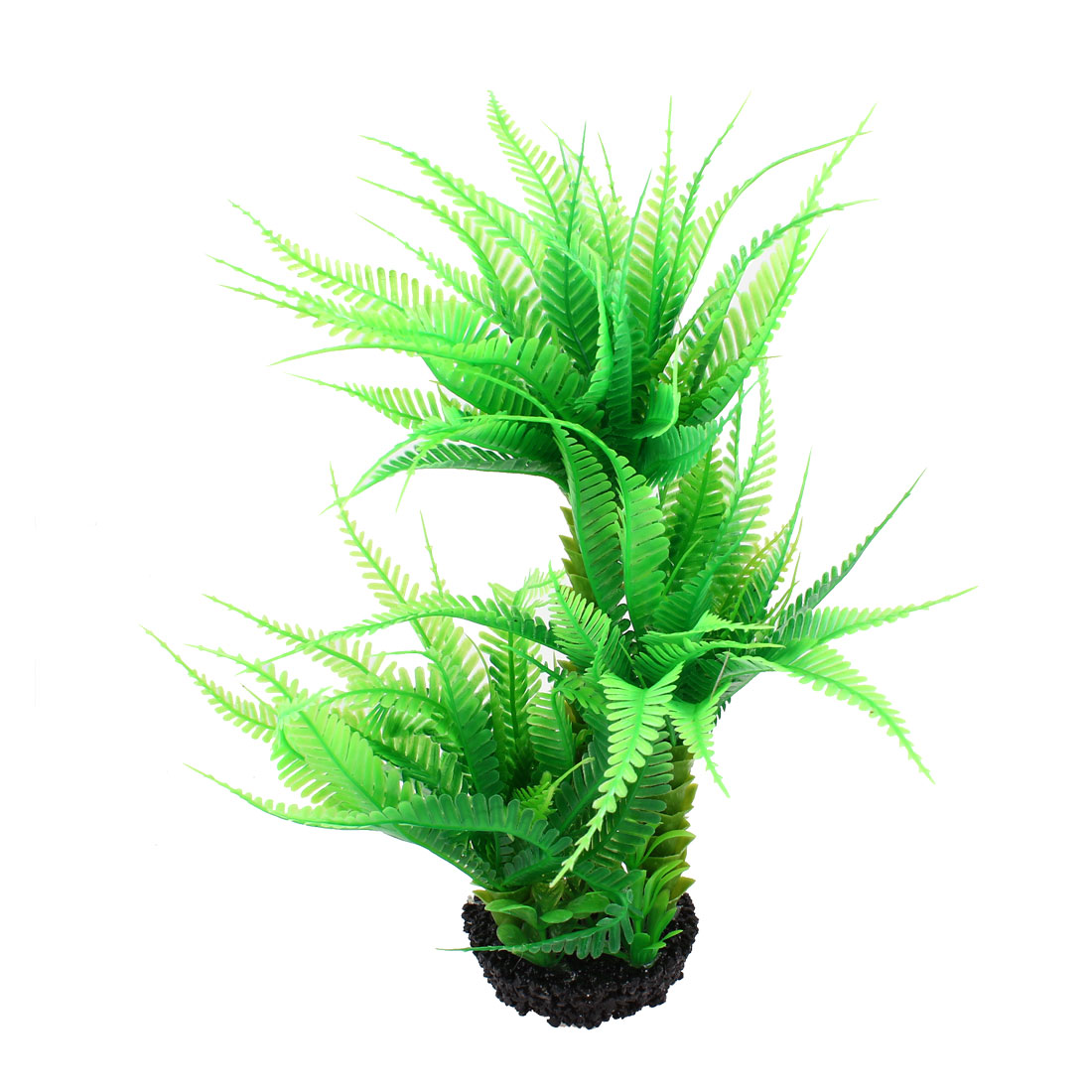31cm Height Manmade Coconut Palm Artificial Green Plant for Fish Tank Aquarium