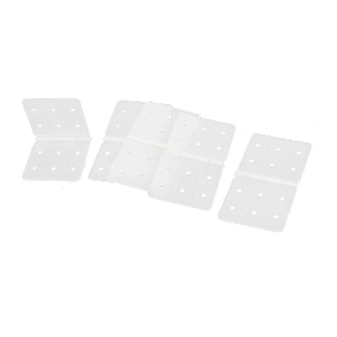 5 Pcs Folding White Nylon Pinned Hinges Parts 36mm x 20mm for RC Plane