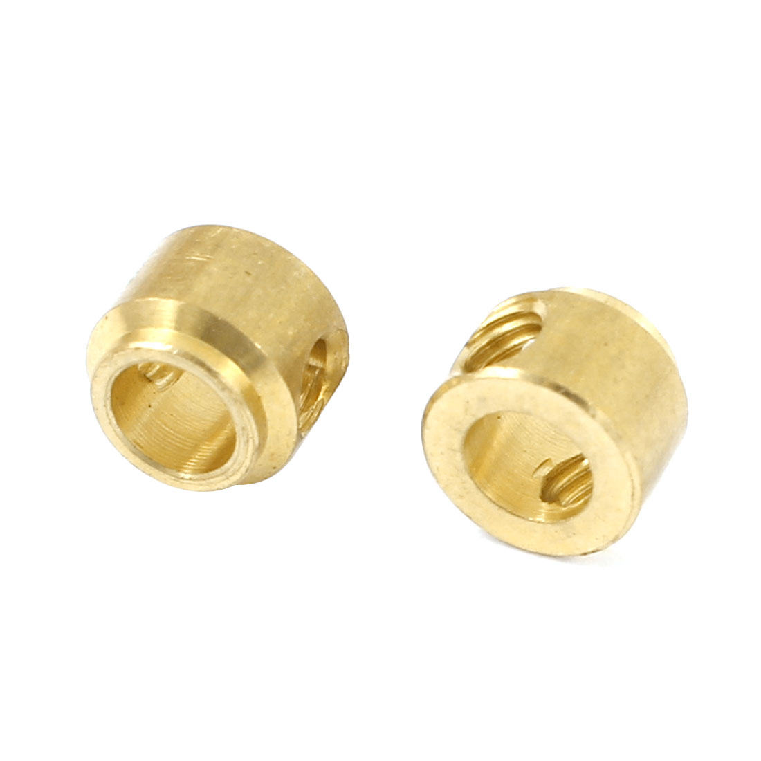 2 Pcs Gold Tone Brass Cylinder Shaped RC Aeroplane DIY Model Block Parts