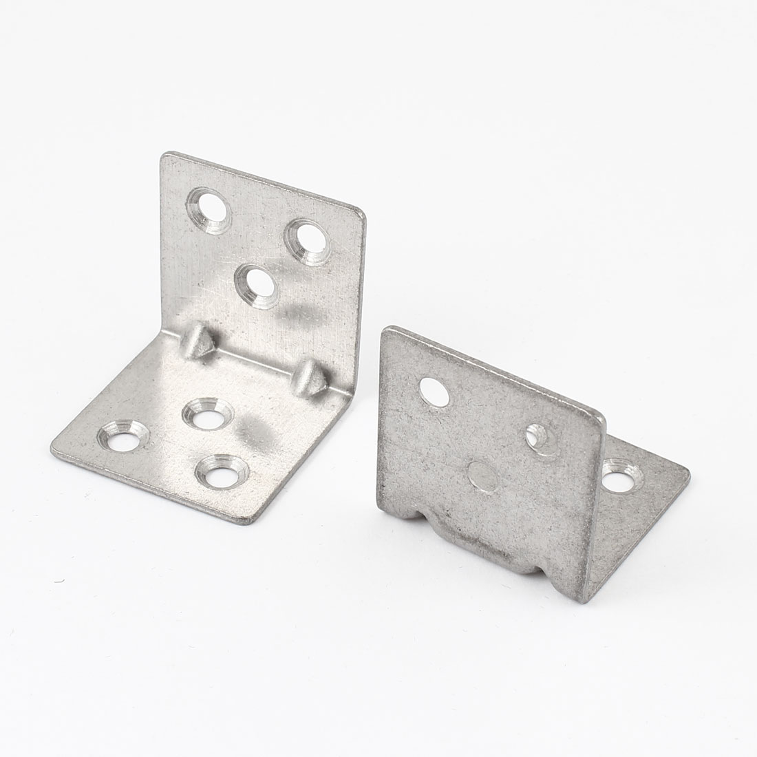 2 Pcs 5mm Mounting Thread Dia 6 Hole Metal Right Angle Bracket Support 3.5cm x 3.5cm