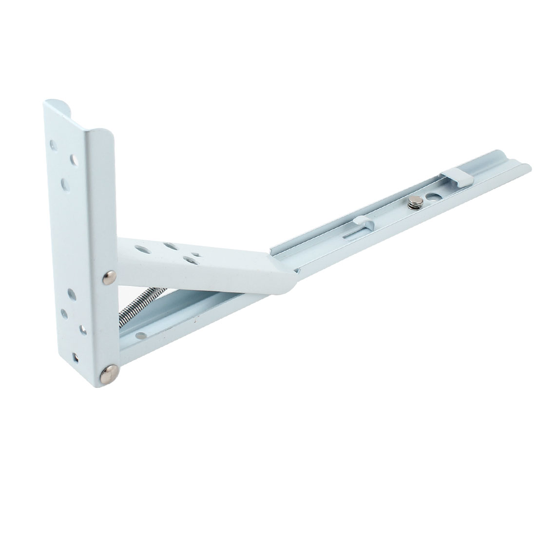 "14"" White Stainless Steel 90 Degree Right Angle Spring Shelf Support Bracket"