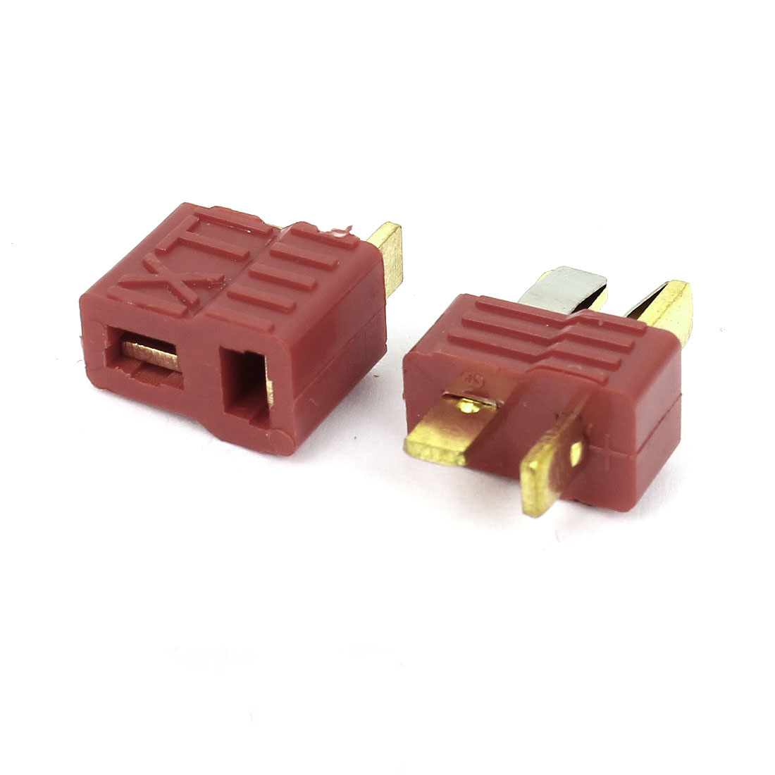 Red Plastic RC Model Toy Battery T Plug Male and Female Connector