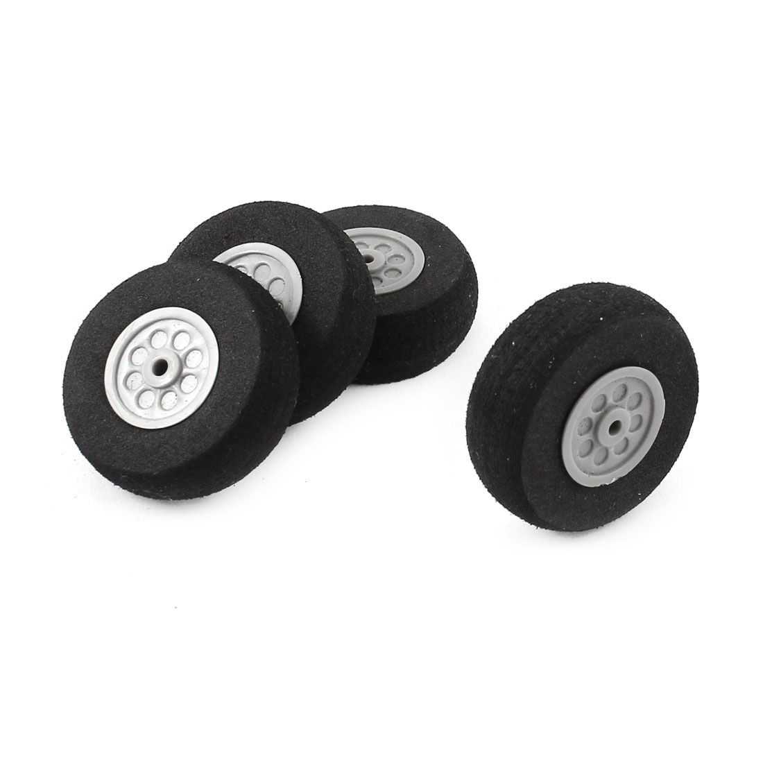 4 Pcs RC Electric Toys Airplane Sponge Spoke Wheel D30mm H10mm d2mm